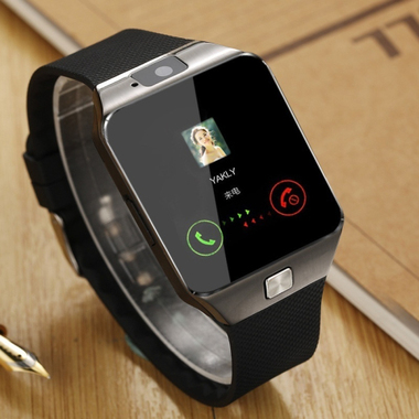 Smart Watch with HD Camera (Support Media) and has SIM & Memory Card Slot., For