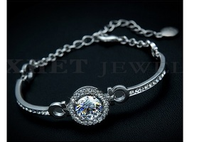 White Gold Plated Beautiful Swiss CZ  Bracelet