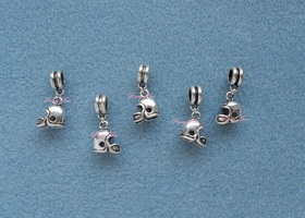 3-D Football Helmet Euro Charms