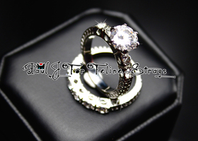 1920's-Inspired Ring Set AAA Grade CZ SS