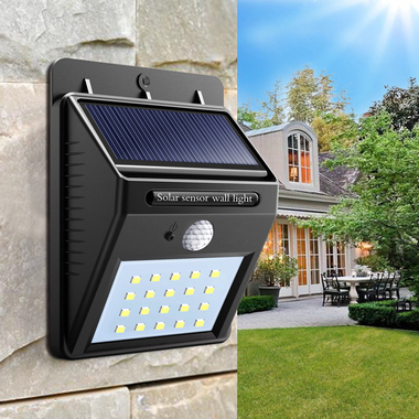 Solar Powered Waterproof 20 LED Motion Sensor Wall Light for Patio Garden Yard D