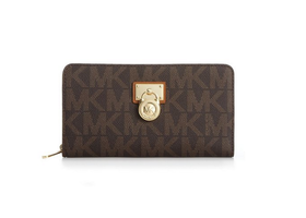 Michael Kors Hamilton Sig. Continental Brown Wallet