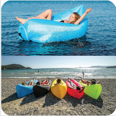 Banana Bed Air Lounger Fast Inflatable Air Bag Bed Sofa Couch Outdoor Beach Camp