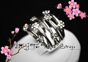 ✫5 6 7 8 9 10 AAA Grade CZ Open Design Floral Band Ring