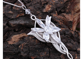 Lord of Ring Arwen Evenstar's Style Crystal Necklace