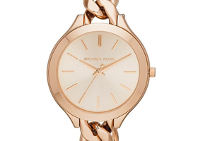 MK Slim Runway Rose Gold Bracelet Watch