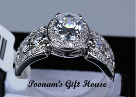 Sz5/67/8/9 Gorgeous 18K WGP 1.5-carat Swiss CZ Ring