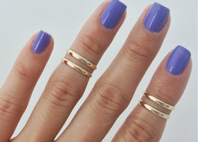 Urban looks! 4 Trendy Midi Rings!