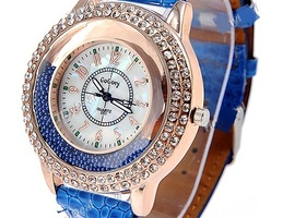 Wristwatch Timepiece with Rhinestones Decor for Lady Fe