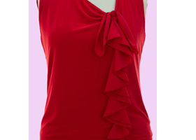 Plus Size Ruffled top in Red Color 1X Size onlys