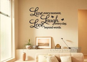 Wall Art Decor Removable Sticker Live, Laugh Love