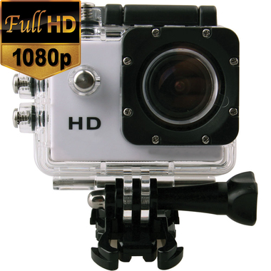 CN White 1080P Sport Camera Diving 30 Meter Waterproof Camera Mini DVR Camcorder