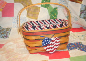 1997 Longaberger All American Patriot Basket