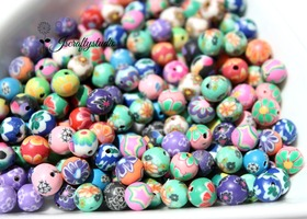 50+ Handmade 8mm Clay Beads