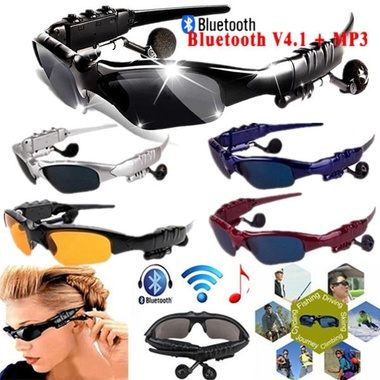 Original Intelligence Sport Bluetooth Stereo Headset 3 colorful glasses earphone