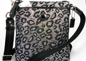 RARE Coach Ocelot/Leopard Swingpack/Crossbody Metallic