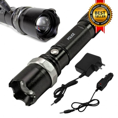 Tactical SWAT Police Heavy Duty Rechargeable Flashlight