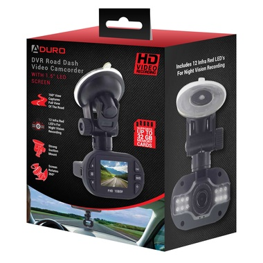 Aduro U-Drive Pro HD DVR Dash Cam with Infrared Night Vision