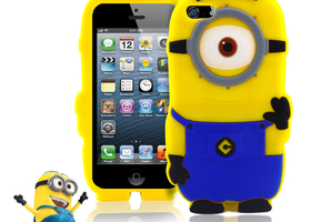 Minion Despicable Me Soft Silicone Case Rubber iPhone5