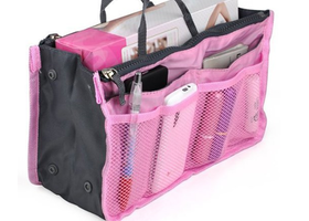 Multi-pocket Nylon Purse Insert Organizer CHOOSE ONE!