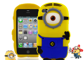 Minion Despicable Me Soft Silicone Case Rubber iPhone4
