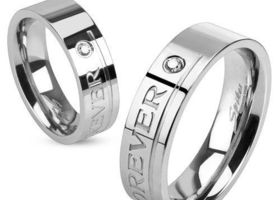 Stainless Steel Love You Forever Ring, Sizes 5-13