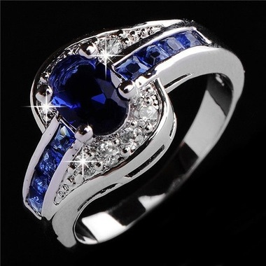 jewelry Women Blue Wedding 037 Ring
