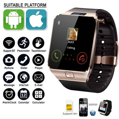 2017 New Smart Watch dz09 With Camera Bluetooth WristWatch SIM Card Smartwatch F