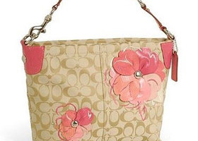 10.  Coach Bleecker Signature Floral Applique Carly