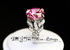 ~10.49ct Princess Pink 5 6 7 8 9 10 SS Ring