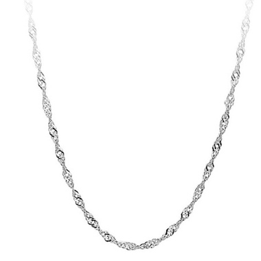 Fashion Jewelry Silver Water Waves Chain Necklace DIY Necklace For Party Wedding