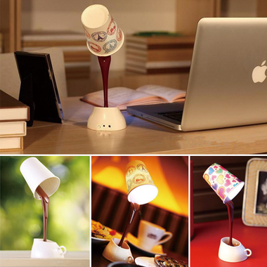 Creative Novelty DIY LED Table Lamp Home Romantic Pour Coffee Usb Battery Night