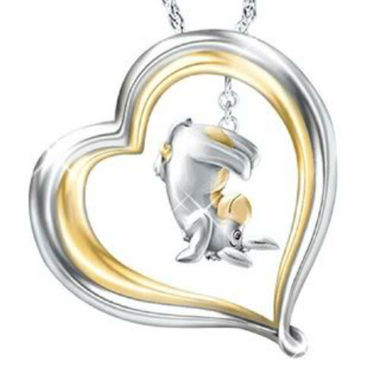 Adorable Two Tone Gold Plated Heart Eeyore Some Days Look Better Upside-Down Cha