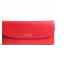COACH Darcy Leather Soft Wallet