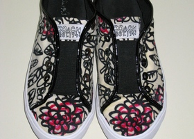 COACH Bev Flower Graffiti Sneakers 8B