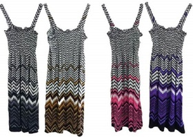 Chevron Print Sundress - Short- Various colors