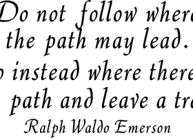 Do Not Follow - Ralph Emerson Wall Decal