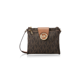 Michael Kors Fulton Brown Large Crossbody Bag