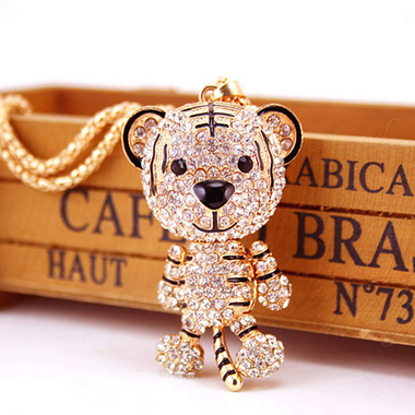 Fashion Crystal Tiger Necklace