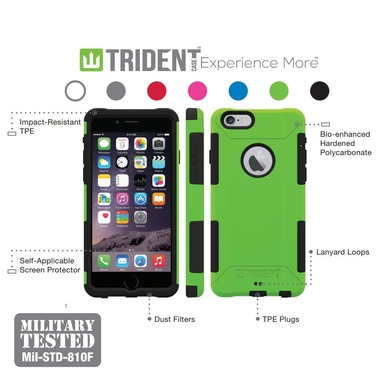 Trident Aegis iPhone 6/6s, iPhone 6 Plus/6s Plus, 5/5s/SE Shock-absorbing Case w