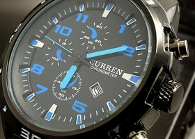 Curren Stainless Steel Water Resistant Watch