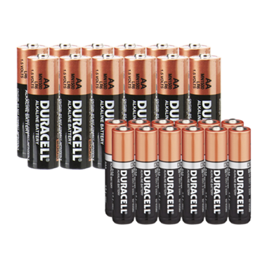 24 Pack Bundle Of Duracell Batteries-12 AA + 12 AAA