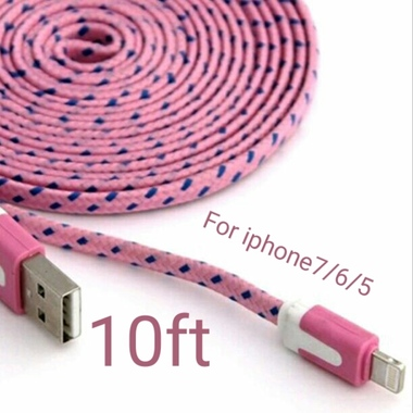 Pink color* 10ft for iPhone 7/7plus/6/6plus/5/5s/5c