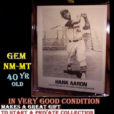 Hank Aaron Hard to Find and Original 1977 TCMA in a HARD CASE NM-MT CARD Number