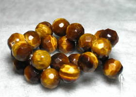 Faceted Tiger Eye Beads