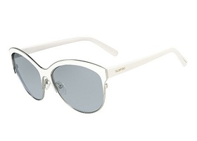 Valentino Sun Sunglasses V104S-White with Silver
