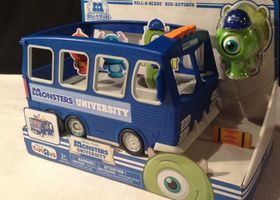 NIB Monsters Inc Roll A Scare Bus
