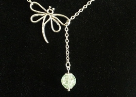 Crystal Dragonfly Lariat (EQ)