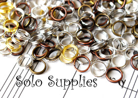 100 6mm Assorted Split Rings