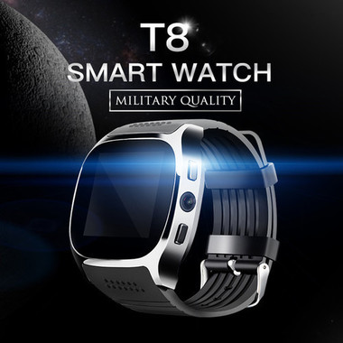 New T8 Bluetooth Smart Watch Support SIM and TFcard,Camera 2.0MP